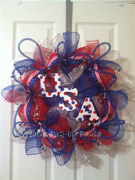 324 best 4th of july patriotic wreaths images on pinterest patriotic wreath holiday wreaths