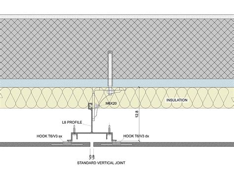 mid section luna slot system for ventilated facades