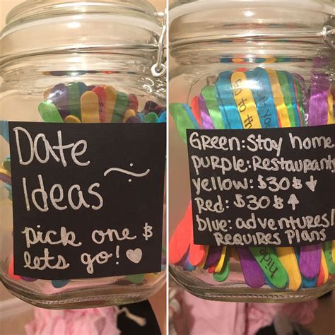couple date gifts 125 colored popsicle sticks 5 jar 4 100 date ideas crafting dim jar