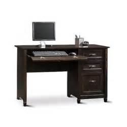 Small Black Home Office Desk Wooden Office Desk Antique Black Computer Pc Cottage Home