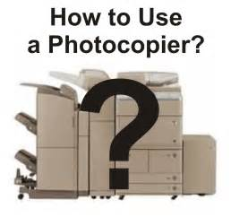 how to use a photocopier office technology
