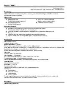 Mechanic Apprentice Sle Resume by Mechanics Resume Exles Skilled Trades Resumes Livecareer