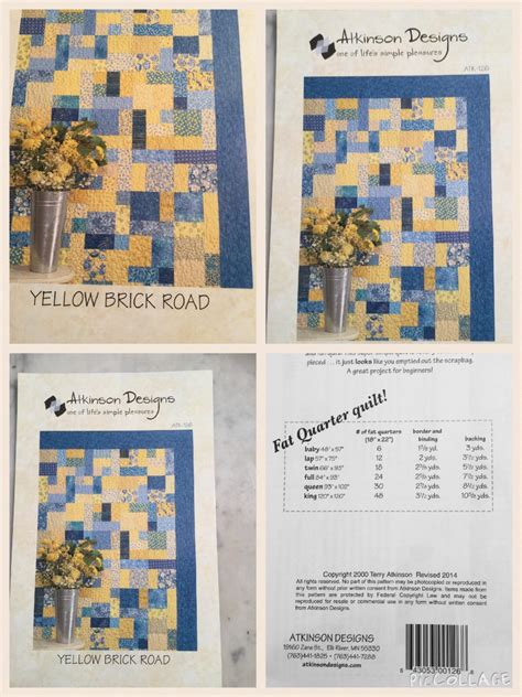 Yellow Brick Road Quilt Pattern Free by Yellow Brick Road Quilt Pattern By Atkinson Designs From Sewwille On Etsy Studio