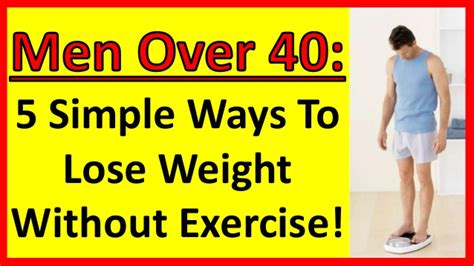 5 simple ways to lose weight without exercising 40