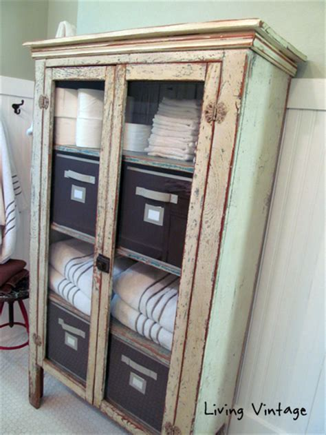 vintage bathroom storage ideas our ensuite master bathroom project living vintage