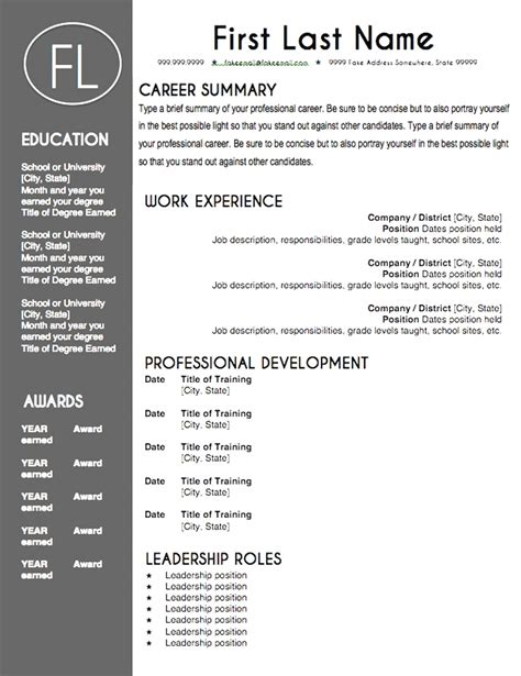 creative cv template word doc top free editable resume templates word downloadable and