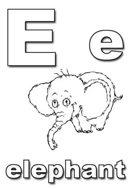 alphabet coloring pages e alphabet coloring pages
