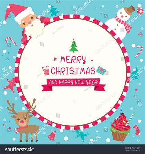 illustration vector merry christmas happy  stock vector  shutterstock