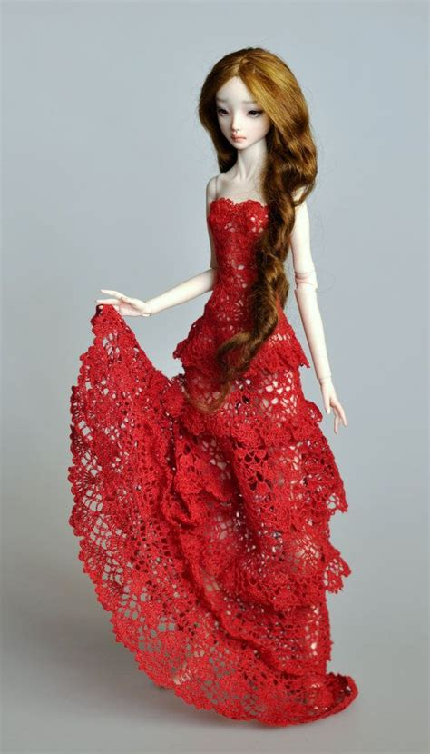 fashion doll cer crochet dress for enchanted doll or for doll by
