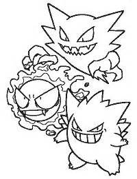pokemon coloring pages haunter coloring pages all pok 233 mon cartoons pinterest