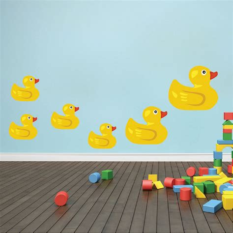 rubber duck wall stickers rubber duck wall mural decal bathroom wall decal murals primedecals