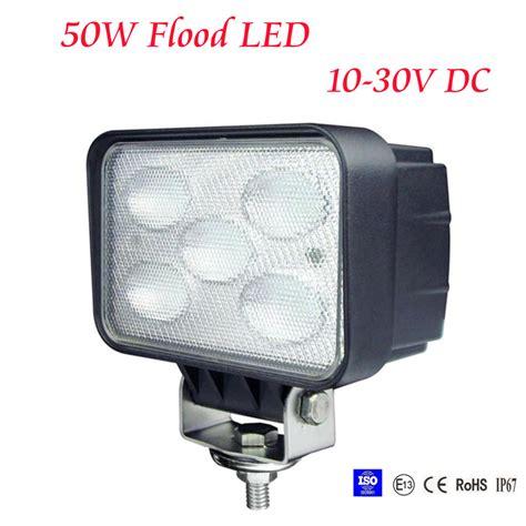 50w flood led work light 12v 24v jeep boat offroad 4wd