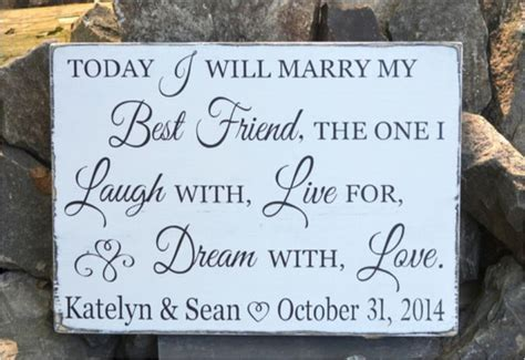 Today I Will Marry My Best Friend Wedding from soflco.com