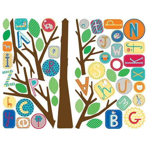 abc wall stickers primary abc tree wall stickers stickers for wall