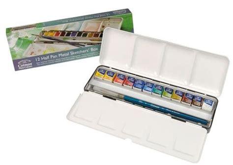 Gogh Watercolor Plastic Set 24 Half Pans review winsor newton cotman watercolors sketchers box parka blogs