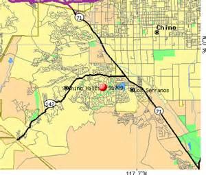 chino california map 91709 zip code chino california profile homes