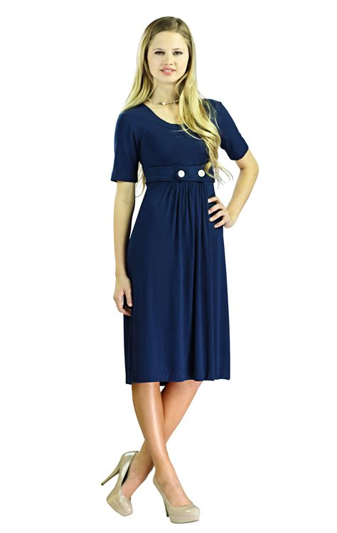 Dress Blue Navy modest navy blue dress ejn dress