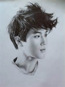 Suho Of Exo Pencil Sketch Dreamboard