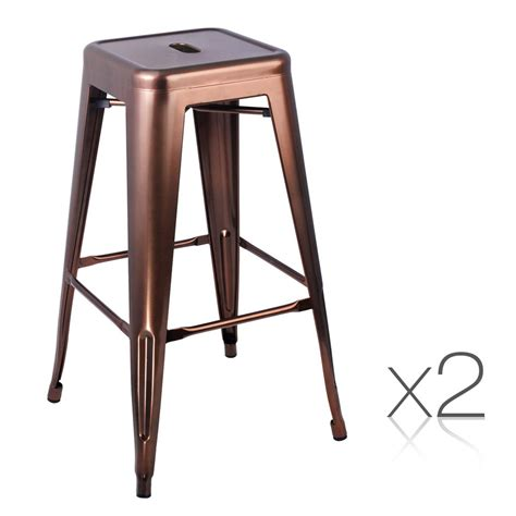 metal kitchen bar stools set of 2 steel kitchen bar stools 76cm bronze homeware