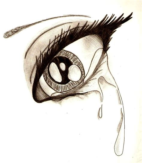 teary eye by minoritsuki