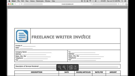 freelance writing invoice template freelance writing invoice template free invoice template