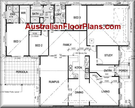 Free Floor Plan Builder 4 Bedroom Plus Rumpus Room Modern Style Home Design