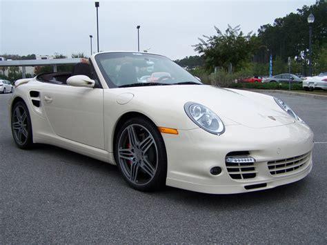 white porsche 911 turbo 2009 porsche 911 turbo cab in white with cocoa