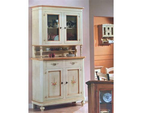 credenza vetrina credenza vetrina base alzata legno decorato colore
