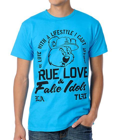 True And False Idols Get by True False Idols Team Reggie Turquoise T Shirt Zumiez