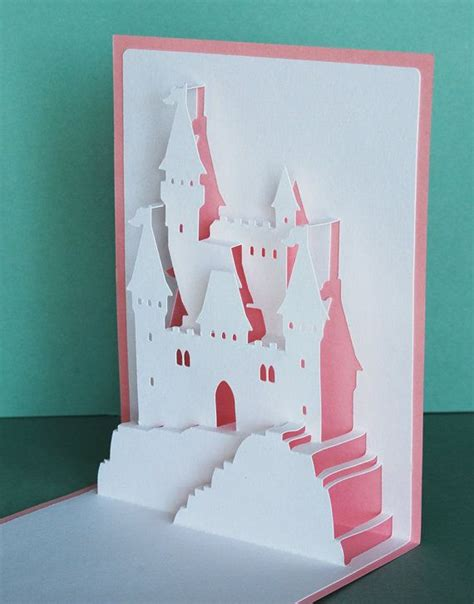 Harry Potter Pop Up Card Template by Princess Castle Popup Card By Peadenscottdesigns On Etsy