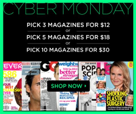 10 Magazine Subscriptions by Discount Mags Cyber Monday Sale 3 Magazines For 12