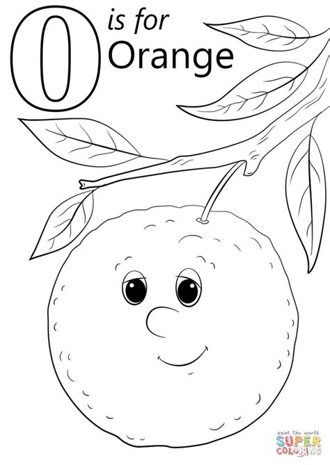 letter    orange super coloring coloring pages