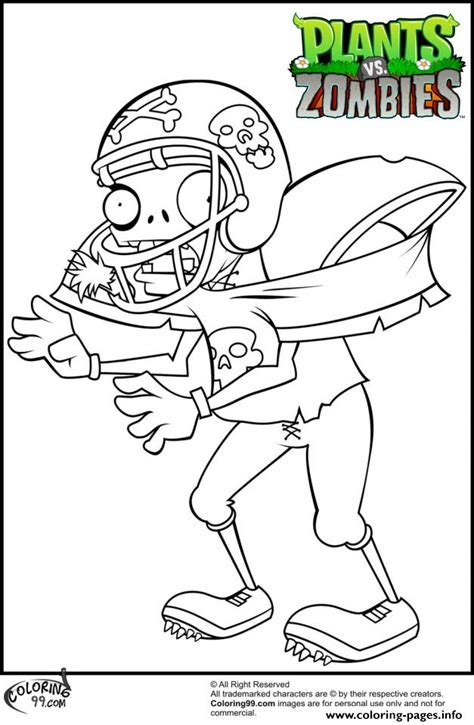 coloring book vs tlop football player plants vs zombies coloring pages printable