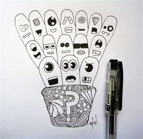 doodle ekspresi tutorial sketsa wajah ini karya ku