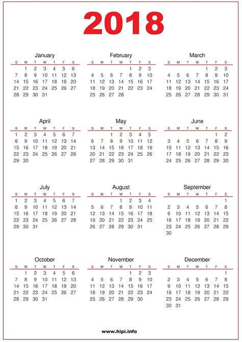 printable calendar 2018 with pictures twitter headers facebook covers wallpapers calendars