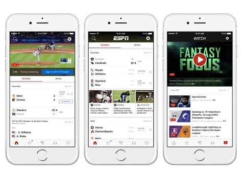 espn app for android new tab launches on the espn app for ios and android espn mediazone u s