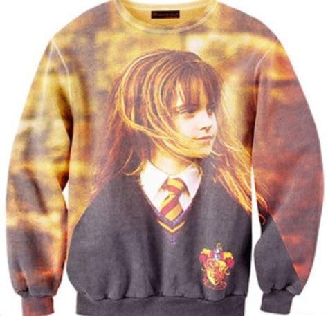 Sweater Harry Potter Hogwarts 1 sweater granger hermione hogwarts harry potter sweatshirt wheretoget