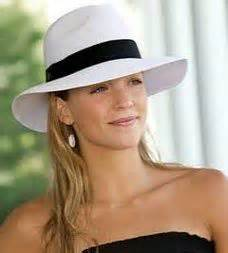 white wide brimmed cotton womens fashion fedora hat with