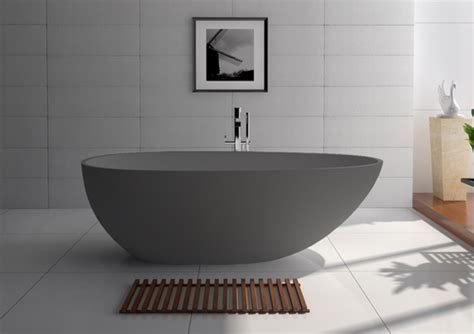 Stone Bath Matte Grey 1700mm Freestanding  STO3/GREY