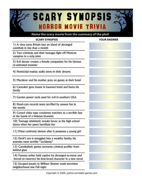 horror film quiz best 20 trivia games ideas on pinterest