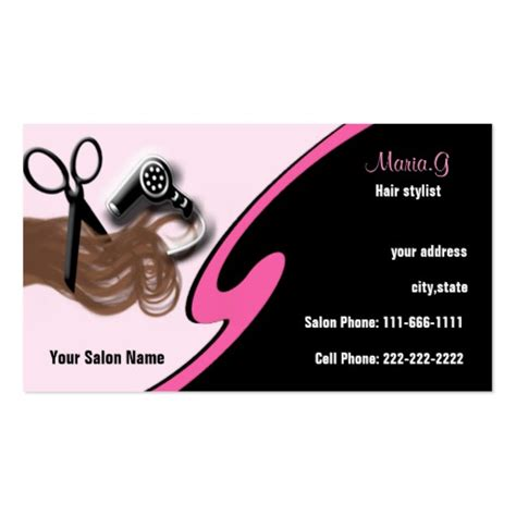 hairdresser business card templates free hair salon businesscards business card template zazzle