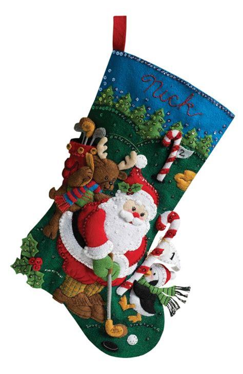 bucilla christmas golfing santa bucilla kit