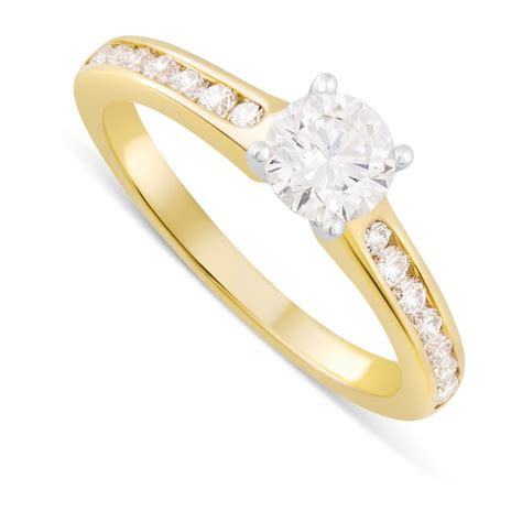 18ct white gold engagement ring fields ie