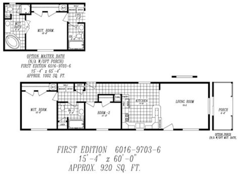 14x60 mobile home floor plans http www