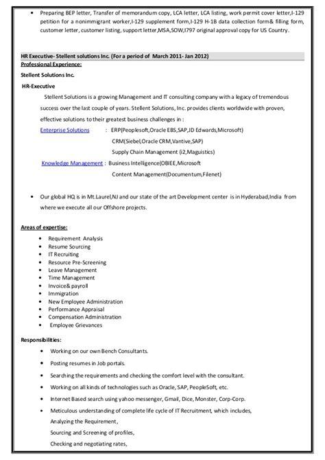 L1 Petition Letter Indira Resume