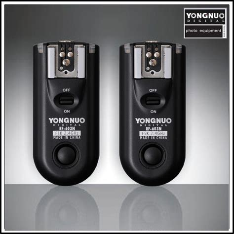 Trigger Yongnuo Rf 603 yongnuo rf 603 wireless transceiver system lighting rumours