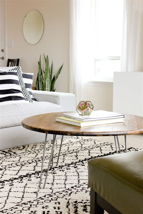 diy hairpin leg  coffee table  creative route