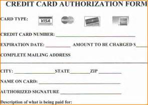 Authorization Letter For Credit Card credit card authorization form template word credit card form for web
