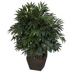 silk plants double bamboo palm with decorative planter silk plant