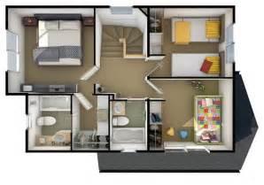 Planos De Casas De Dos Plantas Y Tres Dormitorios #4: Plano-de-casa-de-3-habitaciones-en-dos-pisos.jpg